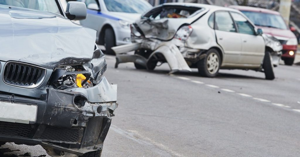Damage to Vehicles in a Car Crash
