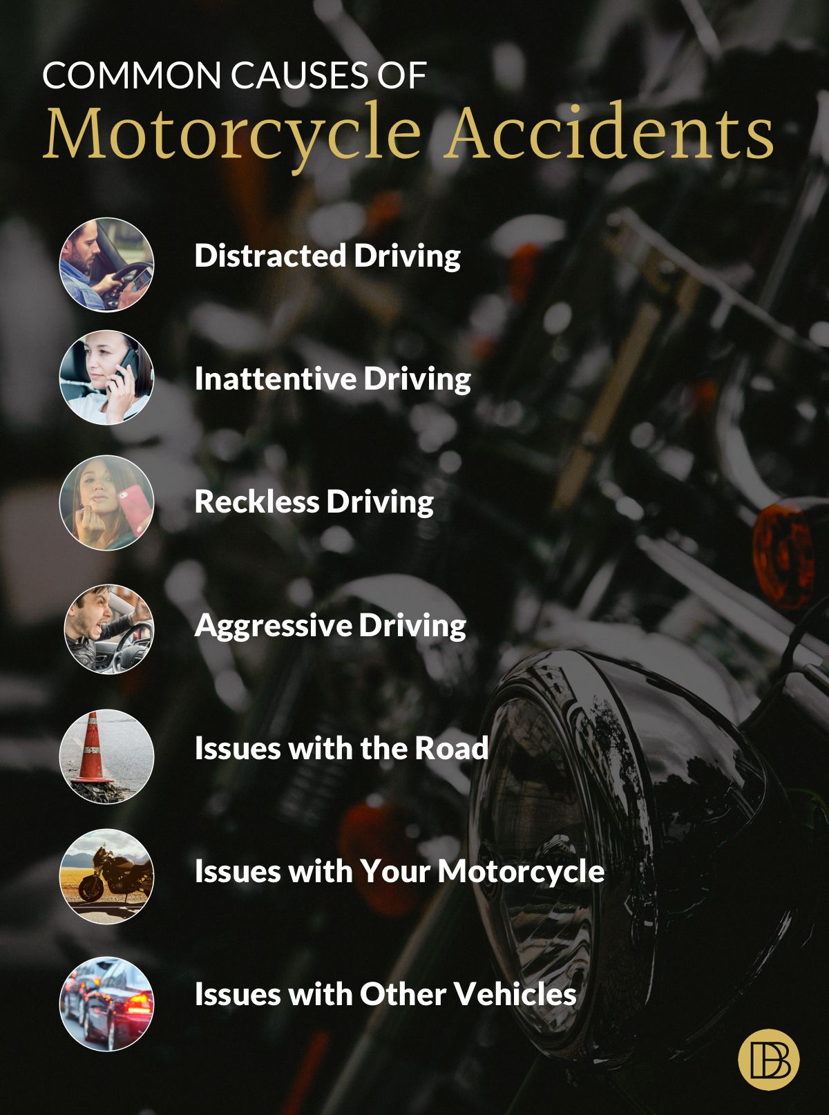 Leading Causes of Motorcycle Accidents