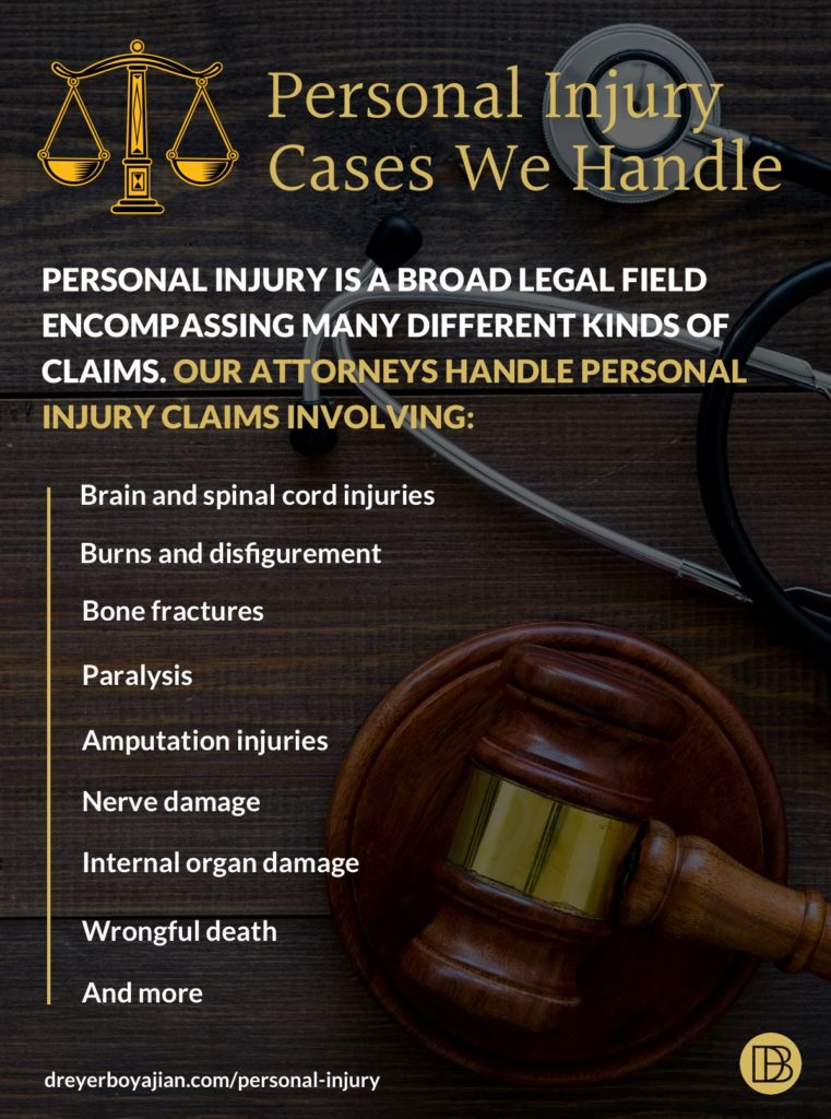 Types of Personal Injury Cases Handled by Dreyer Boyajian LLP