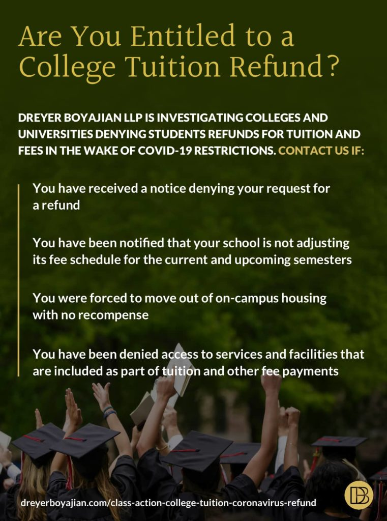 College Tuition Refund Due to COVID-19