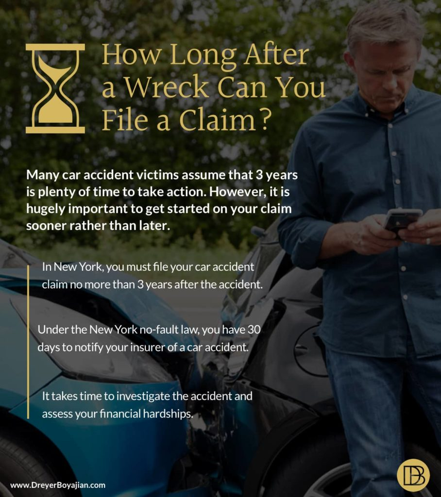 How Long After a Wreck Can You File a Claim? | Dreyer Boyajian LLP