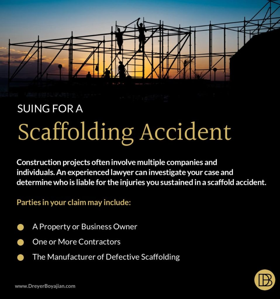 Who Can I Sue for a Scaffold Accident? | Dreyer Boyajian LLP